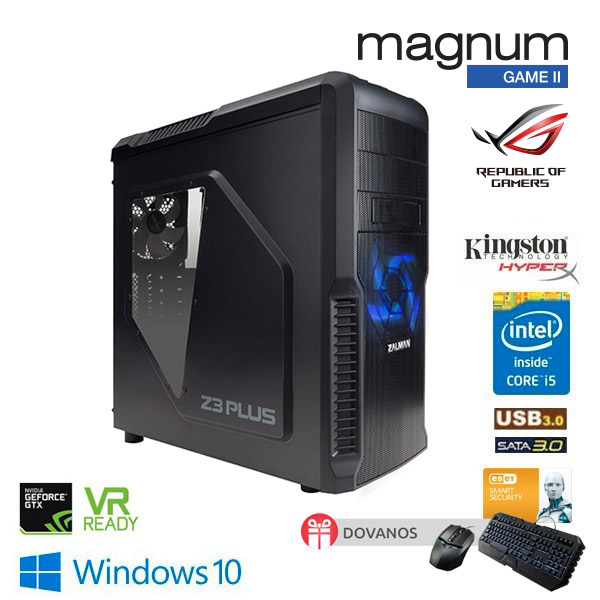 Kompiuteris Magnum GAME II Core I5-7600K 4x3.8GHz/16GB HyperX/250GB SSD 850EVO + 1000GB Black/GeForce GTX 1070 ARMOR 8G/GLAN/DVD-RW /Windows 10