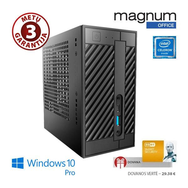 Kompiuteris Magnum Office MINI Celeron G3930 2x2.9Ghz/4GB/32GB SSD/Intel® HD Graphics 610/EsetSS/Windows 10 Pro