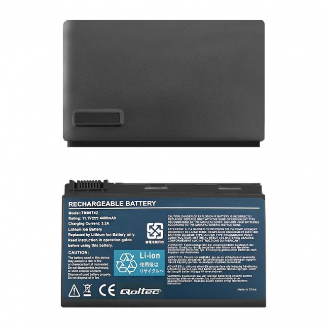 Nešiojamo kompiuterio baterija Qoltec Acer Extensa 5220 5620 5520|11.1 V|4400mAh