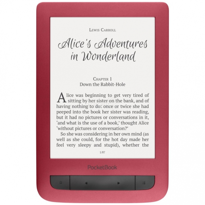 """READER INK 6"""" 4GB TOUCH LUX3/RED PB626(2)-R-WW POCKET BOOK"""