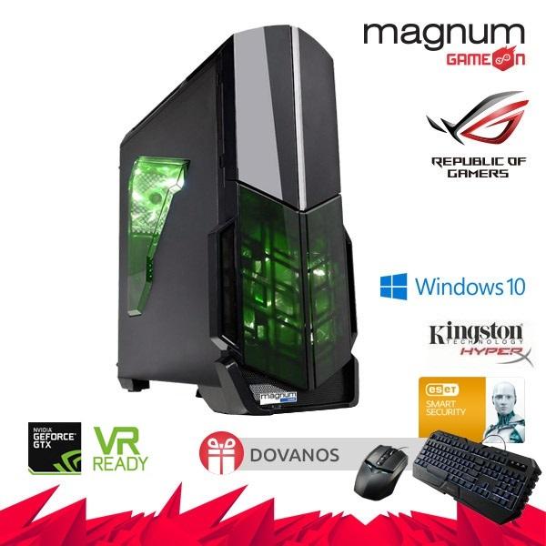 Kompiuteris Magnum GameOn Core I5-7500 4x3.40GHz/8GB DDRAM4 HyperX/240GB SSD/GeForce GTX 1060 DUAL 6GB/GLAN/Windows 10