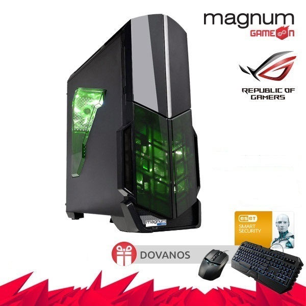 Kompiuteris Magnum GameOn Core I5-7400 4x3.0GHz/8GB DDRAM4/240GB SSD/GeForce GTX 1050 Ti 4GB/GLAN