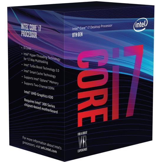 Procesorius Core i7-8700 3200MHz, 12MB, UHD630, s1151, 65W, box