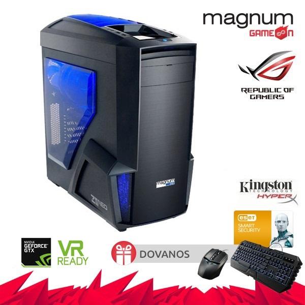 Kompiuteris Magnum GameOn BEAST Core I7-7700K 4x4.2GHz/32GB DDRAM4 HyperX/480GB SSD HyperX Savage/GeForce GTX 1080 Ti STRIX GAMING 11GB/GLAN/DVD-RW